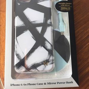 Accessories - iPhone 6/6s phone case and mirror power bank